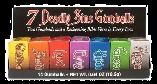Top Halloween Candy 2012 Seven Deadly Sins Gum