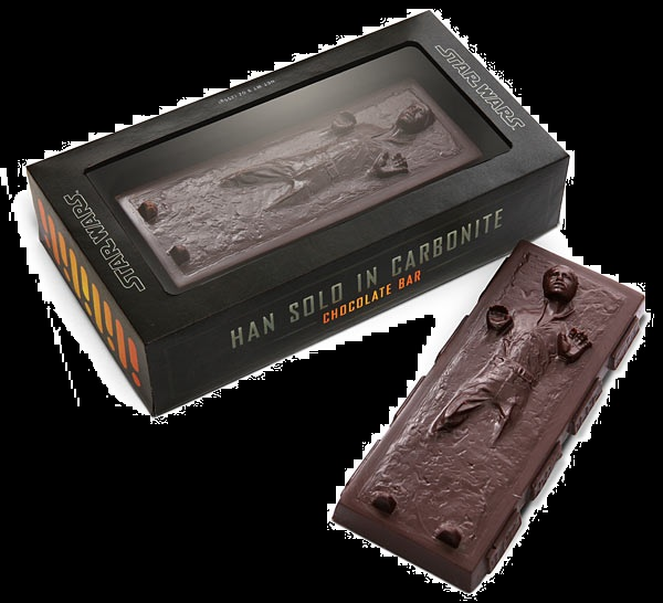 Top of 2012 Star Wars Han Solo Carbonite Chocolate Bar