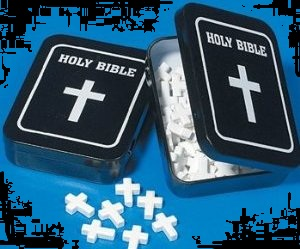 Top Halloween Candy for 2012 Bible Holy Cross Mints