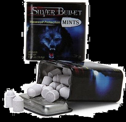 Top Halloween Candy from 2012 Werewolf Silver Bullet Mints