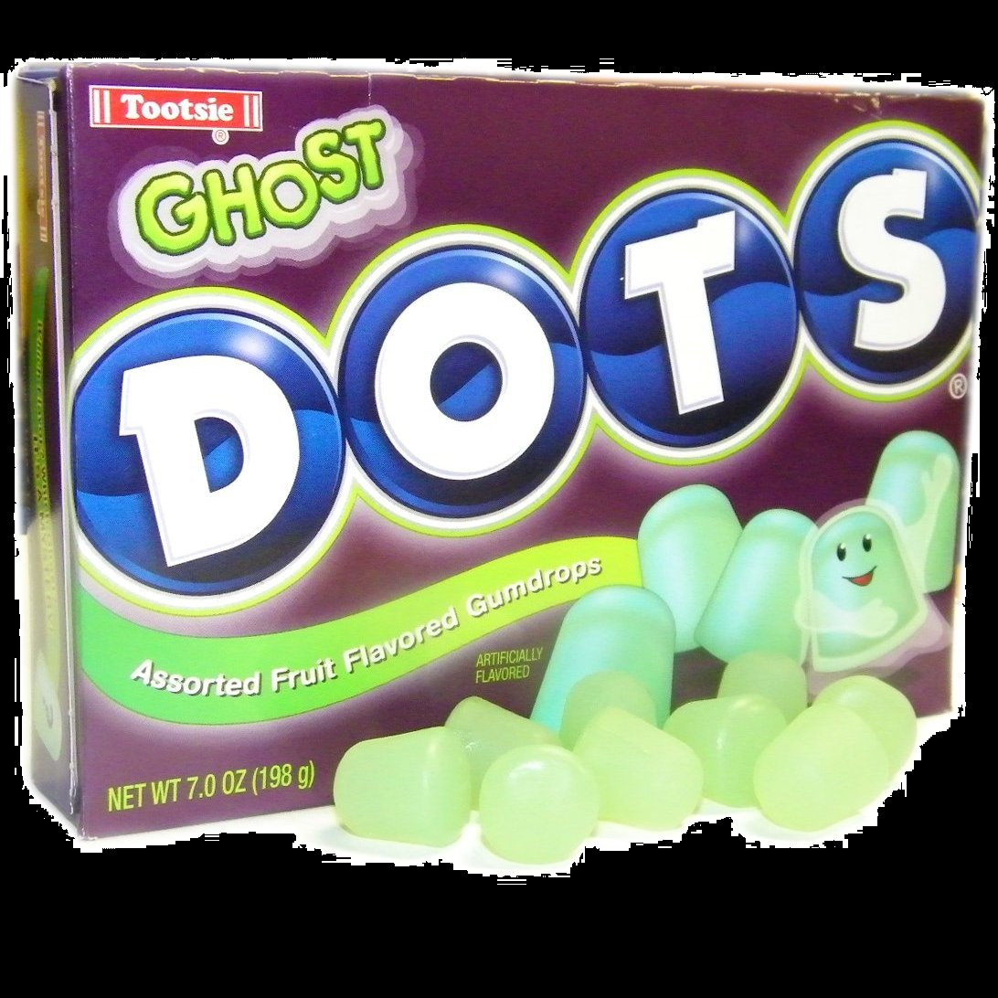 2012 Top Halloween Candy Ghost DOTS