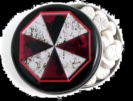 Top Halloween Candy 2012 Resident Evil Umbrella Corporation Mints